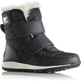 Sorel Whitney Short Hook-and-Loop Stiefel Kinder black/sea salt